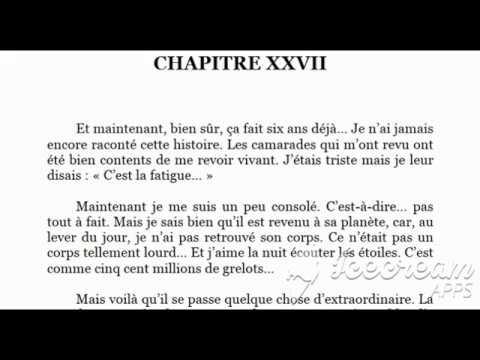 Le Petit Prince Livre Audio C Xxvii Fr