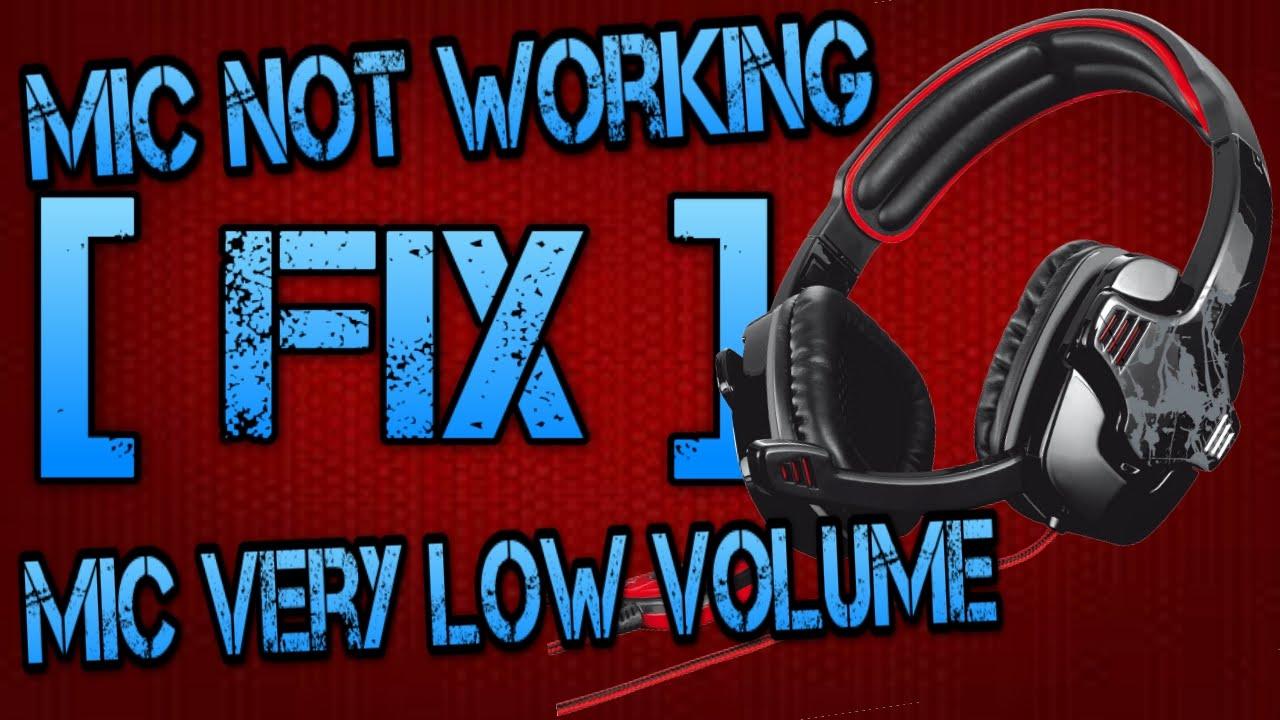 Usb Microphone Low Volume : how to fix headset mic not working volume is too low pc youtube ~ Russianpoet.info Haus und Dekorationen