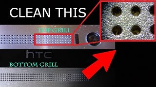 How to clean any clogged android / iphone speaker / Earpiece / microphone grill without disassemby