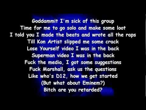 D12 - My Band ft. Cameo (Lyrics on Screen)