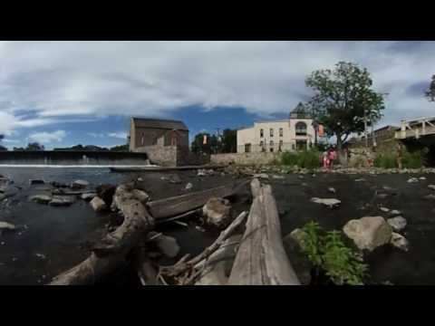 360-degree view of the historic town of Clinton, N.J.