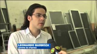 Jornal da Band - Visita a fabrica da Alumintelas