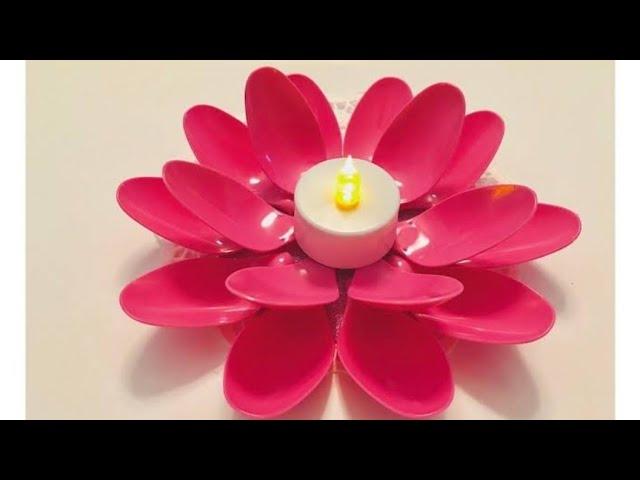 DIY spoon candle holder /Diwali decorations