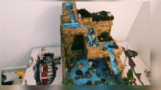 Kendin Yap - Çimento ve Strafor Kullanarak Muhteşem Masaüstü Su Şelalesi Yapımı  / Dekoratif