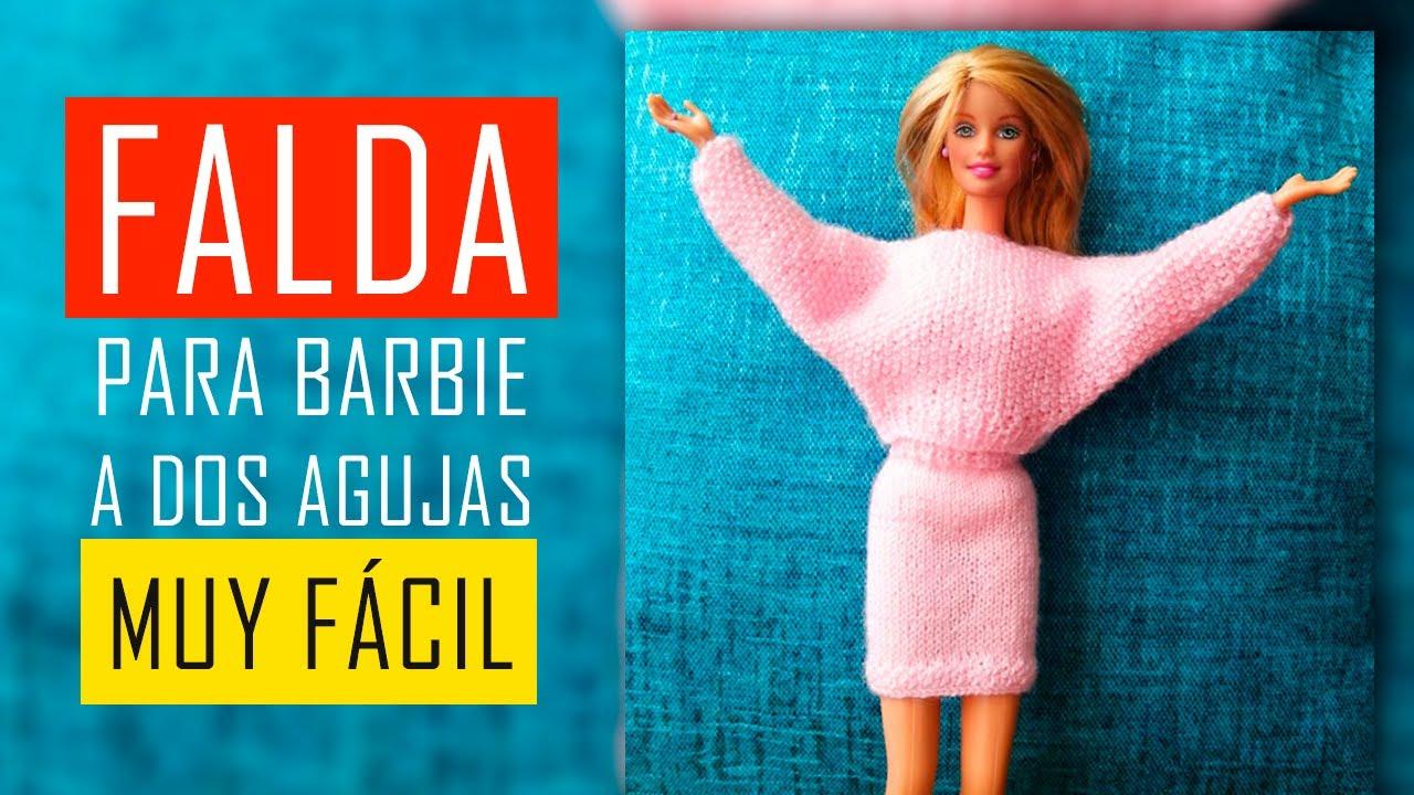 Falda para Muñeca Barbie muy fácil, para principiantes