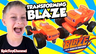 BLAZE AND THE MONSTER MACHINES Transforming RC Blaze Monster Truck & Race Car Blaze Epic Toy Channel