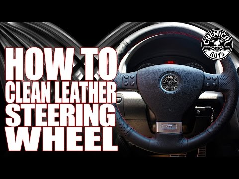 How To Clean Leather Steering Wheels - Chemical Guys Leather Serum