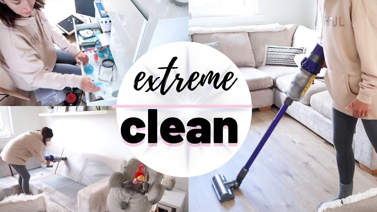 Extreme Clean With Me 2019 Deep Clean And Declutter Speedclean Cleanwithme Cleaningmotivation