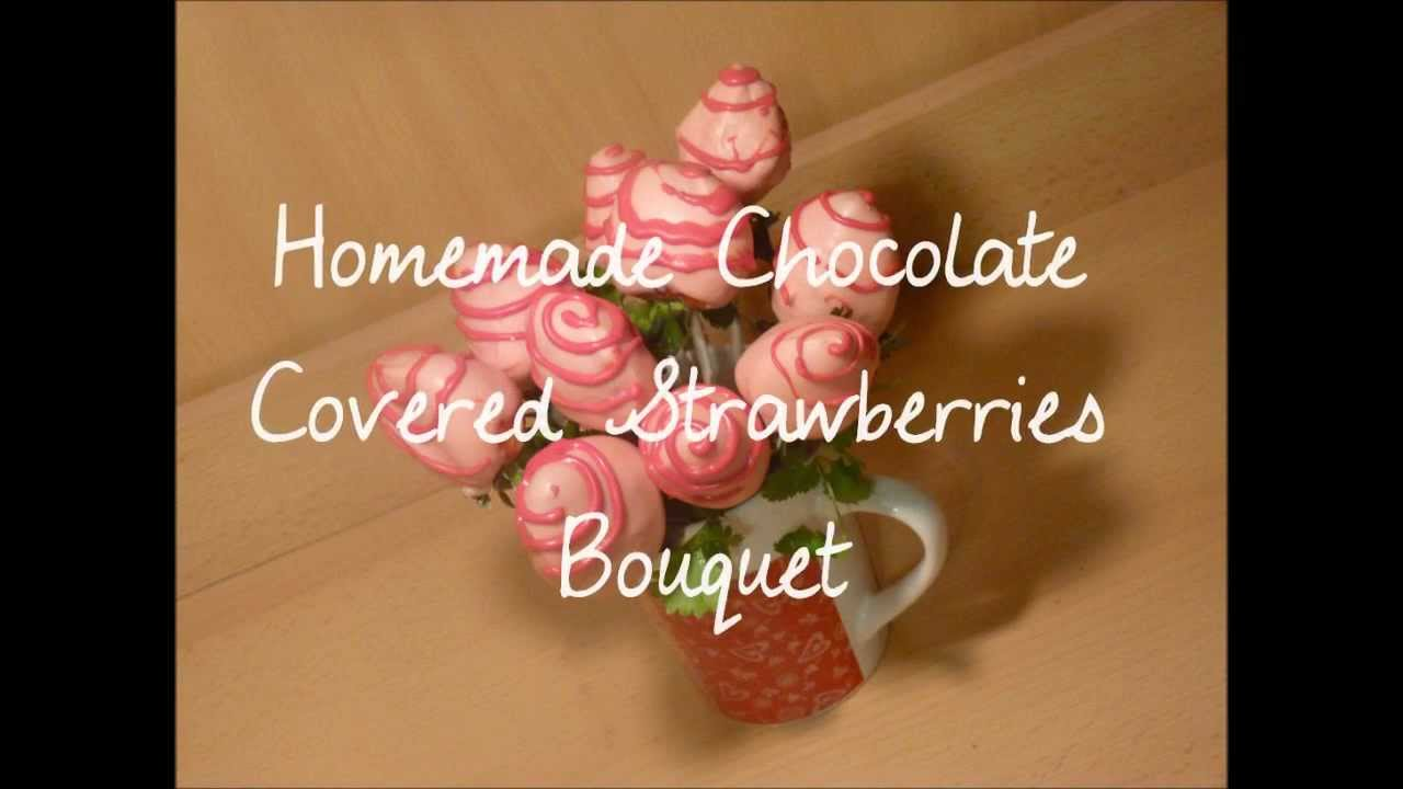 Homemade Chocolate Covered Strawberries Bouquet- Di\'s Sweet Treats ...