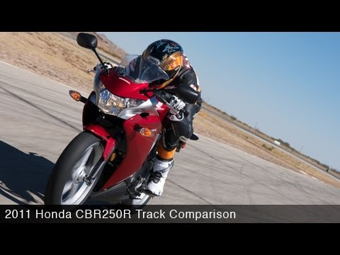 2011 Honda CBR250R Track Comparo - MotoUSA