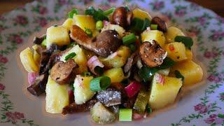 Просто ИДЕАЛЬНЫЙ САЛАТ с картошкой и грибами! [Уютненький Рецепт #2]