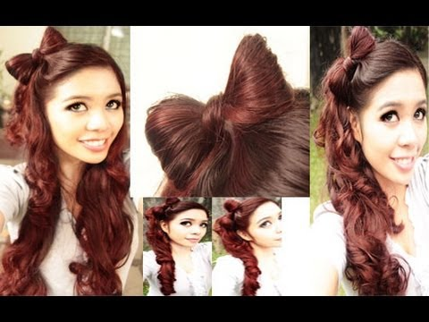 easy hair styles for school easy bow hair tutorial plus a kawaii high side ponytail 2360