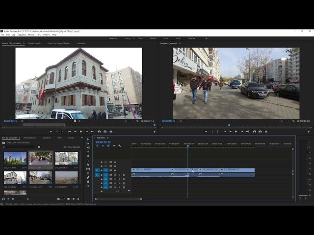 Premiere Pro Eğitimi 07 -  Zaman Çizelgeli ile çalışmaya başlamak