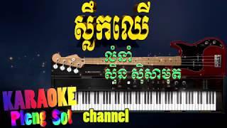 ស្លឹកឈើ ភ្លេងសុទ្ធ - slek cher pleng sot , khmer karaoke