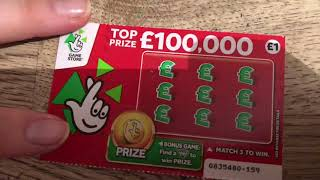 BIG WIN !! Scratch Card Fun