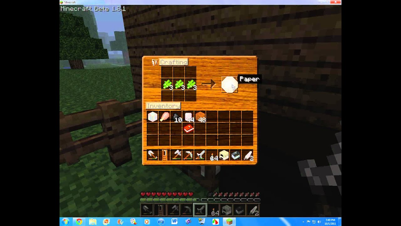how to make a book shelf in minecraft! beta 1.8.1 - youtube