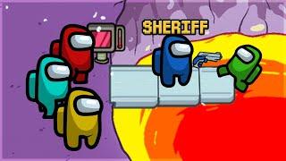 Vi så SHERIFFEN SKYDE IMPOSTOREN!   Among Us Sheriff Mod