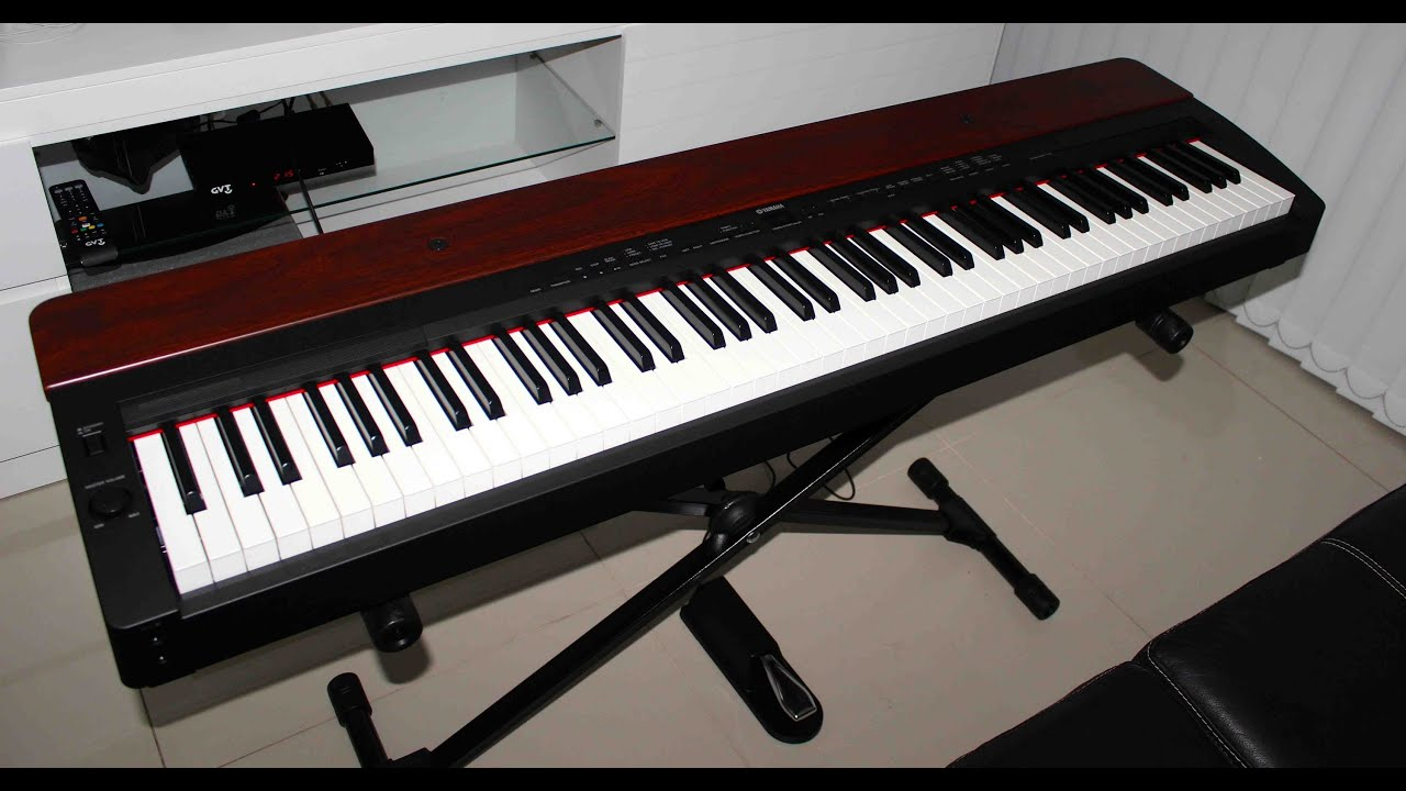 yamaha p155 piano digital unboxing pt br youtube. Black Bedroom Furniture Sets. Home Design Ideas