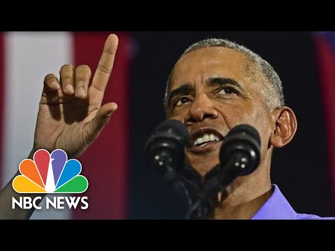 Former President Barack Obama Speaks Against 'Demagogues' At Rally In Ohio  NBC