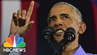 Former President Barack Obama Speaks Against 'Demagogues' At Rally In Ohio | NBC News