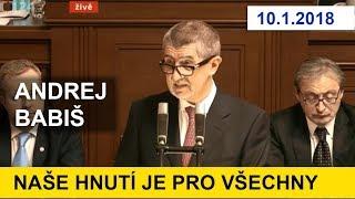 Projev premiéra  BABIŠE v PSČR / Žádost o důvěru vládě