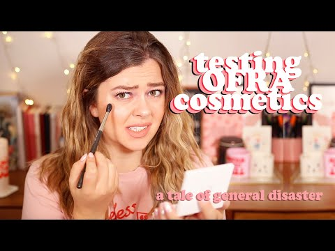 TESTING OFRA COSMETICS - AVERAGE GIRL TRIES (wow enjoy the disaster)  | LUCY WOOD thumbnail