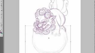 Baby Shishi Sketch