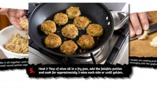 Mike's 4 Bean Falafels With Roasted Garlic Yoghurt & Parsley Salad - Food In A Minute