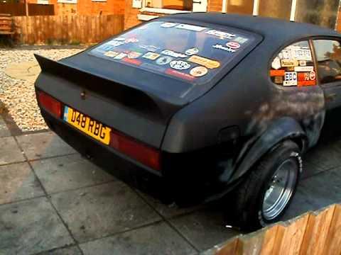 matte black ford capri tuning w ca18det engine youtube. Black Bedroom Furniture Sets. Home Design Ideas