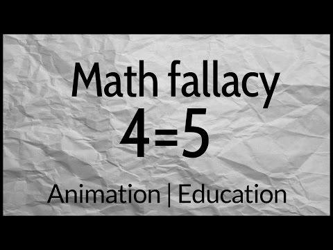 Math fallacy: 4=5