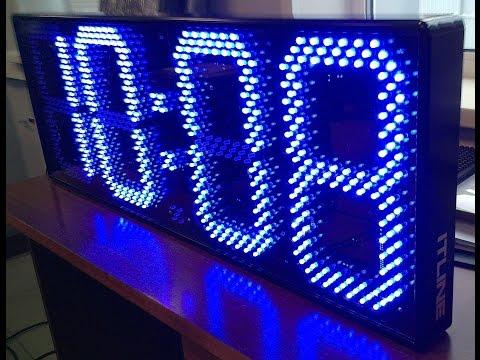 Светодиодные часы-термометр ТМ1b-300