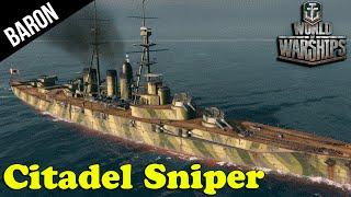 Citadel Sniper!  The Ishizuchi - World of Warships Premium Battleship