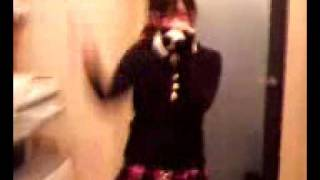 """February 6th, 2008 Mayuyu does the """"Nage kiss de uchi otose"""" dance while Nacchan sings along and watches. Mayuyu's wearing glasses and a really cute ..."""