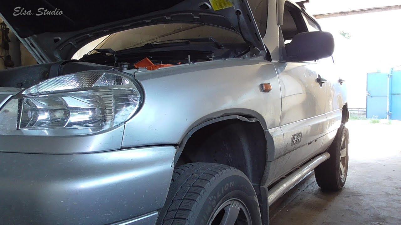 Замена сайлентблоков верхнего рычага Chevrolet Niva