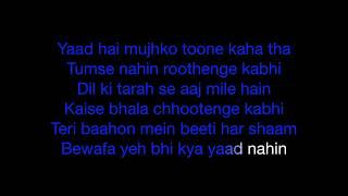 Kya Hua Tera Wada | Karaoke | Key : +3 | Pranav Chandran | Hum Kisi Se Kum Nahin