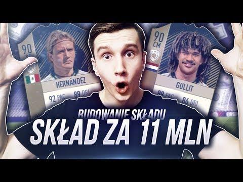 FIFA 18 l SKŁAD ZA 11 MILIONÓW COINSÓW! NOWE IKONY!