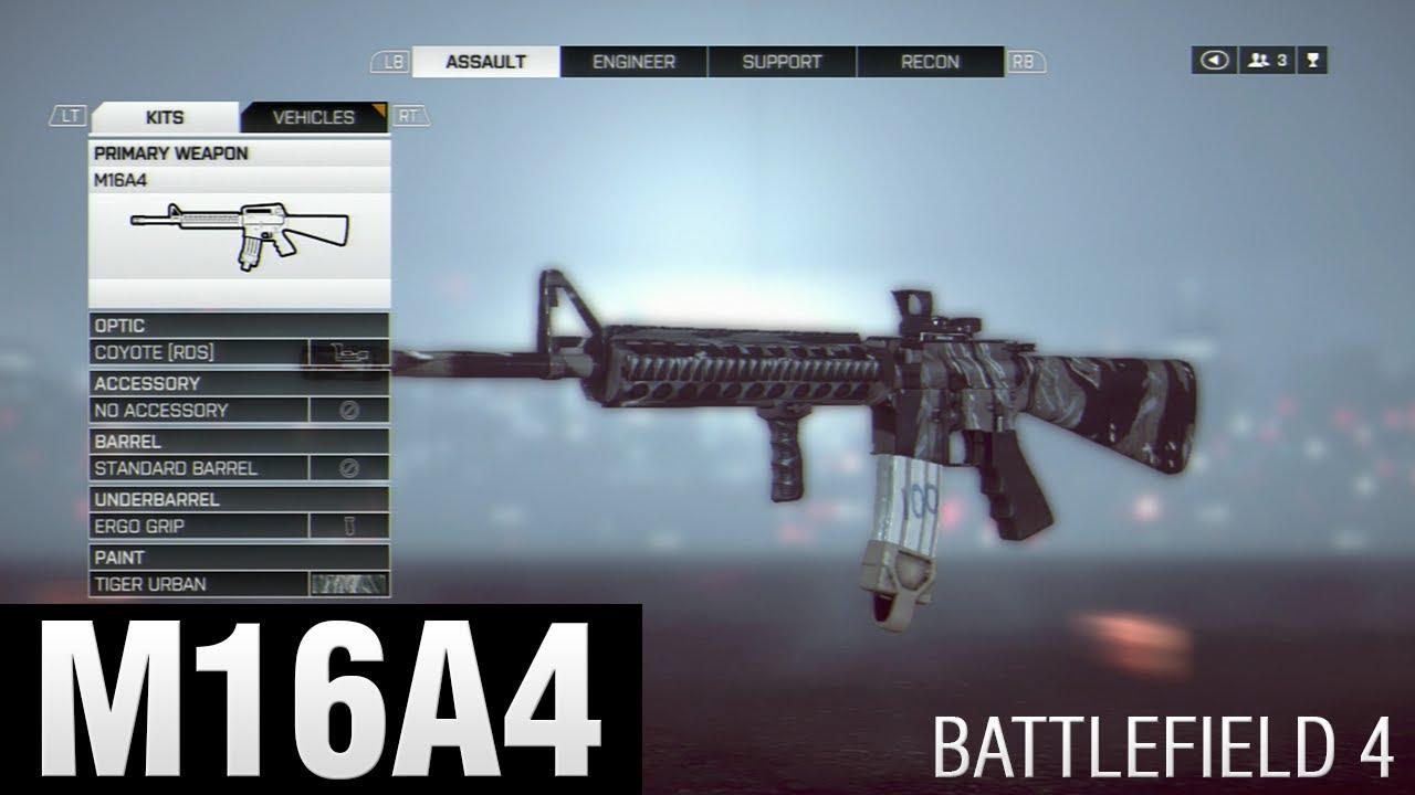 Battlefield 4 - Assault Rifle - M16A4 (Gameplay/Live ... M16a4 Bf3