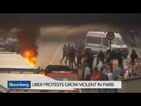 Uber Protests Turn Violent in Paris
