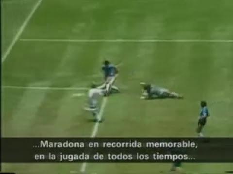 GOL DE MARADONA A INGLATERRA -Diego Maradona's goal against England in the 1986 World Cup in Mexico