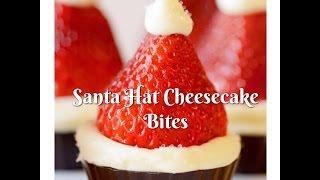 Santa Hat Cheesecake Bites   VLOGMAS DAY 25   part 2