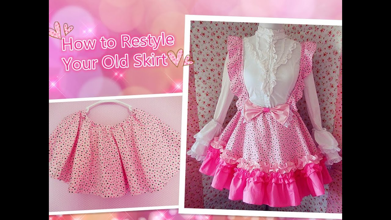 kawaii diy how to restyle your old skirt to lolita