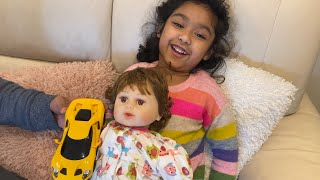 Ishfi and her Baby doll pretend Play