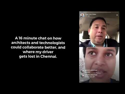 Live Video Chat On Smart Cities And IOT With Bangalore Architect Madurika S