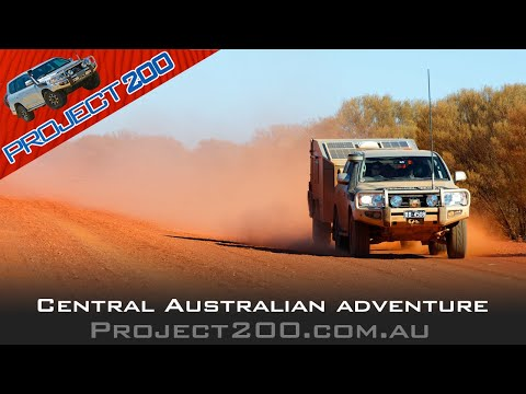 Central Australia in a LandCruiser 200 + home made camper trailer