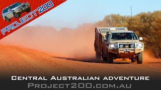 Central Australia in a LandCruiser 200 + home made camper trailer