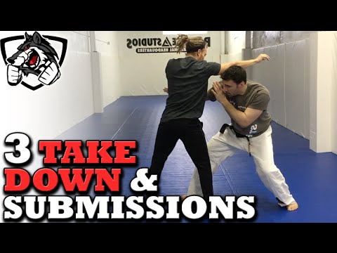 Grappling vs Striking: 3 BJJ Takedowns & Submissions