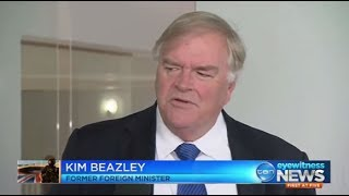 Kim Beazley warns that wandering around insulting Islam is dumb on a stick