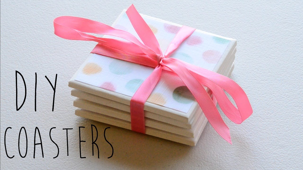How To Make Tile Coasters (DIY Coasters) | Ali Coultas - YouTube