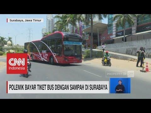 Polemik Bayar Tiket Bus Dengan Sampah di Surabaya