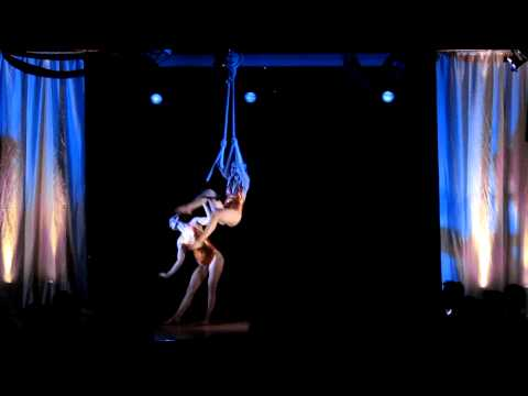Trapeze Duo with the Red Light Variety Show
